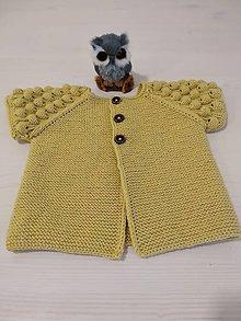 Detské oblečenie - Horčicová vesta 100% Baby merino - 13019868_