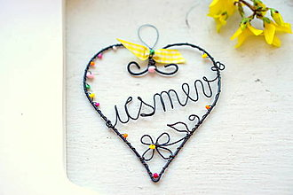 Dekorácie - srdce Úsmev - 13021006_