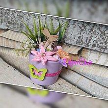 Dekorácie - Veľkonočný zajac v kvetináči - 13027399_