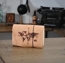 Papiernictvo - kožený midori zápisník COMBAIST - 13024619_