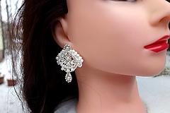 Náušnice - Ivory čipkové svadobné náušnice - 13026853_