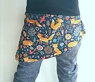 Detské súpravy - Sukničkové softshellové nohavice - 13029050_