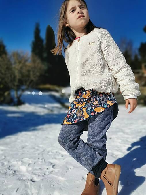 Sukničkové softshellové nohavice