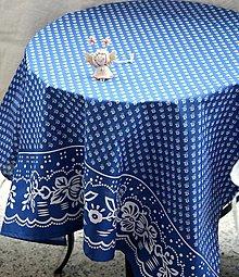 Úžitkový textil - Obrus. Vidiecký slávnostný obrus s bordurou. - 13025153_