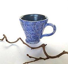 Nádoby - Šáločka na kávičku - Modrá - 13028367_