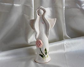 """Dekorácie - Keramický anjel """"Ariel"""" - 13026273_"""