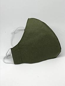 Rúška - Bavlnené rúško na tvár khaki - všetky veľkosti - 13027014_