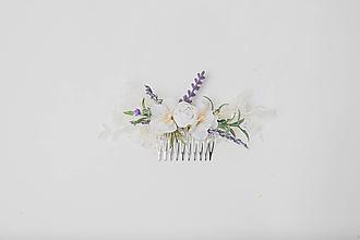 """Ozdoby do vlasov - Kvetinový hrebienok """"ráno vonia tebou"""" II. - 13025695_"""