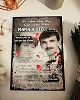 Tabuľky - Darček pre rodičov k výročiu sobáša s fotografiou, k narodeninám  - 13026258_