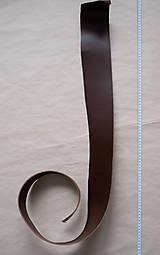 Suroviny - Zbytková hladenica tmavohnedá 3 mm (väčšie kusy) - 13027781_