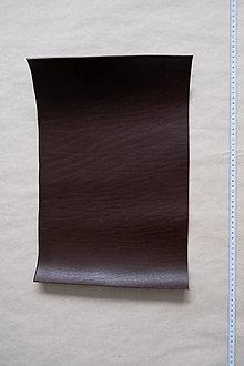 Suroviny - Zbytková hladenica tmavohnedá 3 mm (väčšie kusy) (kus č. 2) - 13027732_