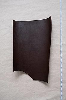 Suroviny - Zbytková hladenica tmavohnedá 3 mm (väčšie kusy) (kus č. 8) - 13027757_