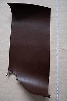 Suroviny - Zbytková hladenica tmavohnedá 3 mm (väčšie kusy) (kus č. 13) - 13027792_