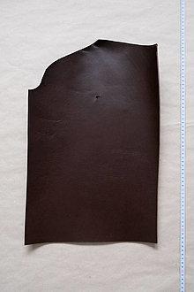 Suroviny - Zbytková hladenica tmavohnedá 3 mm (väčšie kusy) (kus č. 17) - 13027814_