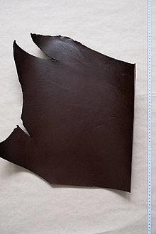 Suroviny - Zbytková hladenica tmavohnedá 3 mm (väčšie kusy) (kus č. 18) - 13027822_