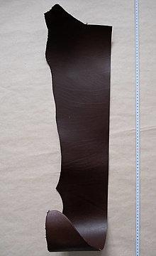 Suroviny - Zbytková hladenica tmavohnedá 3 mm (väčšie kusy) (kus č. 19) - 13027833_