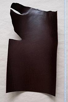 Suroviny - Zbytková hladenica tmavohnedá 3 mm (väčšie kusy) (kus č. 20) - 13027845_