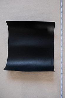 Suroviny - Zbytková hladenica čierna 3mm (väčšie kusy) (kus č. 2) - 13028055_