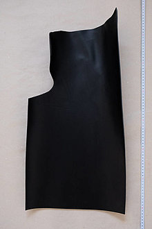 Suroviny - Zbytková hladenica čierna 3mm (väčšie kusy) (kus č. 3) - 13028057_