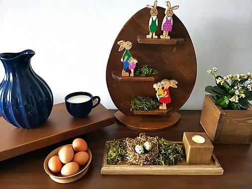 Dekorácie - Drevená polička - vajíčko  - 13029082_