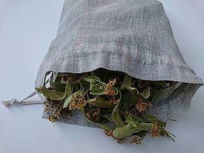 Úžitkový textil - Ľanové vrecko - 13026139_