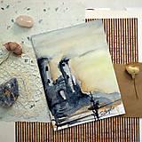 Kresby - Sobotný výlet/ akvarelový originál by Richie Bumpkin - 13029501_