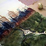 Kresby - Cesta parkom/ akvarelový originál by Richie Bumpkin - 13029533_