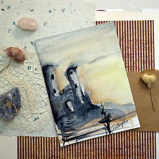 Sobotný výlet/ akvarelový originál by Richie Bumpkin