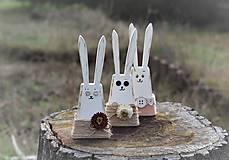 Dekorácie - Zajačiky - 13032406_