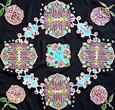 Šatky - Tajomstvá Orientu-hodvábna maľovaná šatka - 13029422_