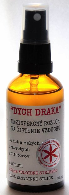 """Drogéria - """"DYCH DRAKA"""" Dezinfekčný roztok na čistenie vzduchu, do áut a malých uzavretých priestorov, 50 ml - 13031503_"""