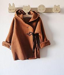 Detské oblečenie - Kabátik Juro Hnedý  - 13033233_