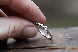 Prstene - Tŕňová vetvička s turmalínom - 13031829_