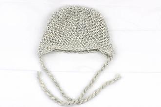 Detské čiapky - Sivá ušianka zimná EXCLUSIVE FINE - 13031904_