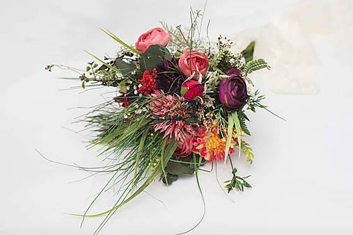 """Svadobná/dekoračná kytička """"s vetrom o preteky"""""""