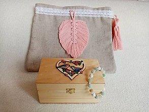 Krabičky - Set- krabička na esenciálne oleje, náramok a vrecko - 13029585_
