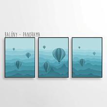 Grafika - Balóny - Panorama (troj-obraz) - 13031541_