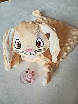 Hračky - Mojkáčik zajačik Marhuľka - 13033949_
