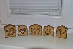 Dekorácie - Domov – domčeky z dubového dreva - 13029784_