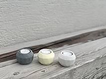Svietidlá a sviečky - GeoFlame Trio-citrón - 13031596_