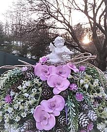 Dekorácie - spomienková dekorácia s orchideou - 13036448_