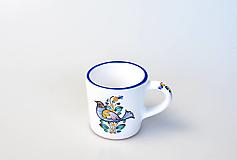 Nádoby - Šálka kávová s vtáčikom - 13038415_