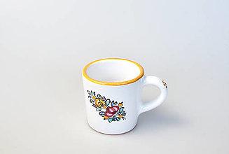 Nádoby - Šálka kávová so žltým lemom - 13038496_