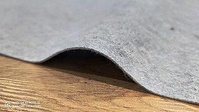 Textil - Filc - cena za 10 centimetrov (Šedá) - 13038777_