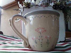 Nádoby - Hrnček na čaj - kvetinka - 13035965_