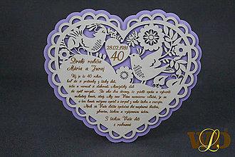 Dekorácie - Výročie svadby Ľudové srdce - 13036837_