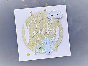 Papiernictvo - Gratulačný pozdrav - chlapček - 13036216_