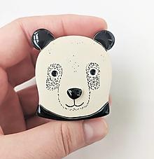 Odznaky/Brošne - panda brošňa - 13038075_