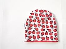 """Detské čiapky - Dvojvrstvová čiapka """"lienky"""" - 13037064_"""