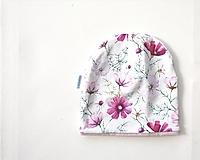 """Detské čiapky - Dvojvrstvová čiapka """"kvety"""" - 13037094_"""